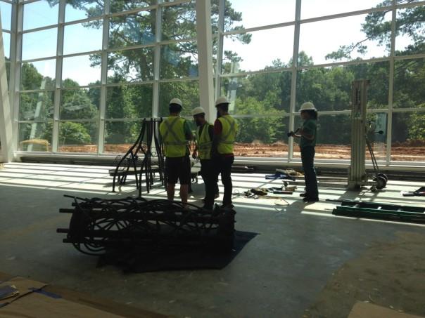 Smithworks Iron & Design installing Ogirishi Tree.